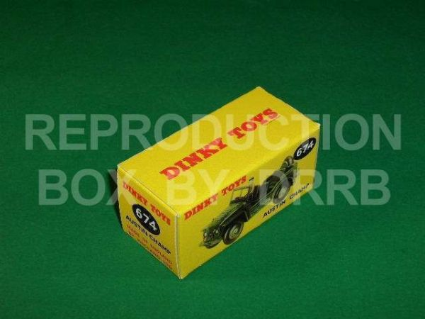 Dinky #674 Austin Champ - Reproduction Box